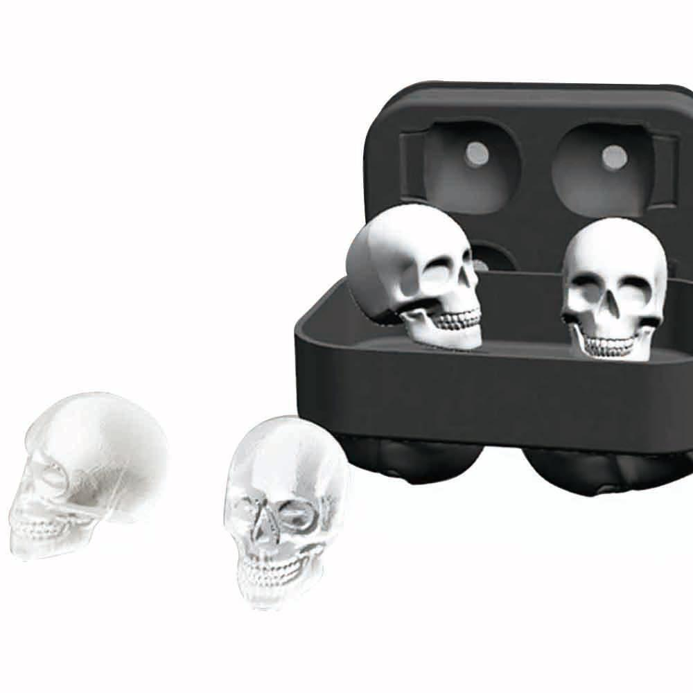 New Fashion Silicone Bones Skull Ice Cube Mold Kitchen Chocolate Tray Silicone Cake Candy Mold Cooking Tools Top Quality DHL free