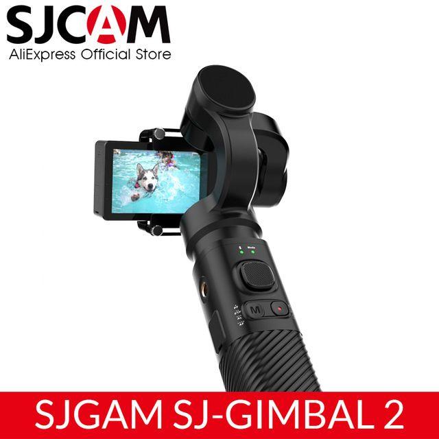 SJCAM 핸드 헬드 짐벌 SJ-짐벌 SJ6 SJ7 SJ8 프로 / 플러스 / 이순신 카메라에 대한 항공 액션 카메라 2 3 축 안정 블루투스 제어