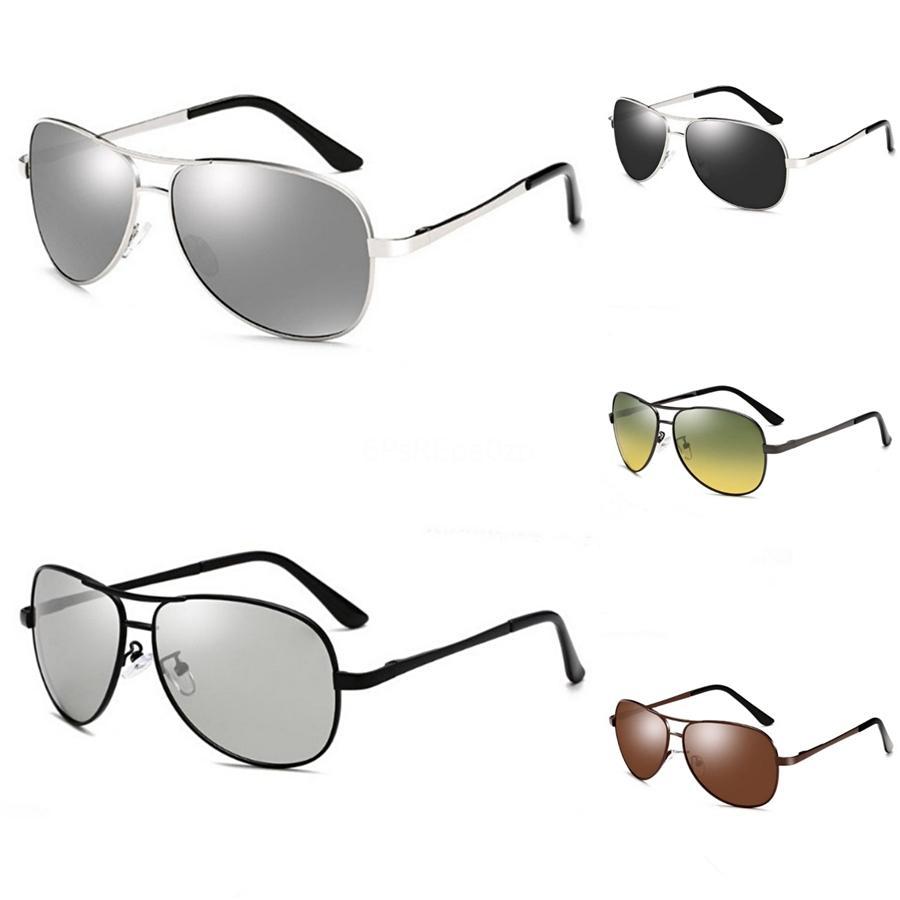 Nueva gafas ciclismo bicicleta de montaña día y noche a prueba de viento gafas de sol polarizadas lente de 8 pedazos fijaron con la caja Ok9406 # 50337