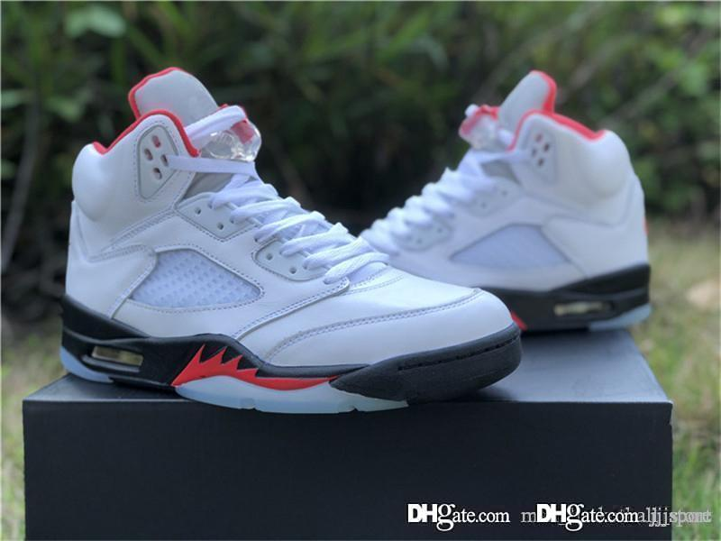 2020 zapatos de hombre de lanzamiento auténtico aire 5 Rojo Fuego retro de baloncesto de Fuego Blanco Negro Rojo reflectantes 3M 5s Deportes zapatillas de deporte con la caja