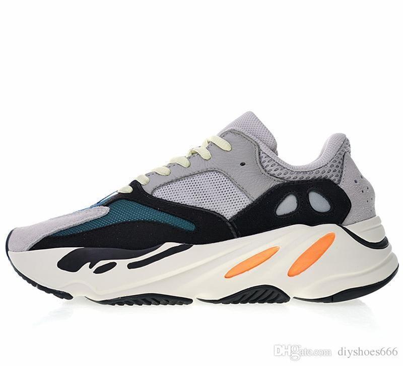 Drop ship Wave Runner 700 V2 Geode Static Inertia OG Solid Grey Mauve Mens Kanye West Running Shoes Women Fashion Sports Athletics Sneakers