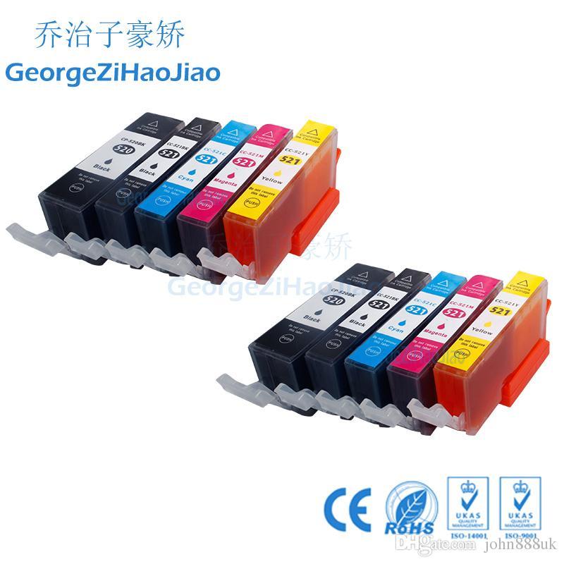 10 Paket Mürekkep Kartuşları PGI520 CLI521 PIXMA ip3600 iP4600 için MP540 MP620 MP630 MP980 MX860 MX870 Yazıcı