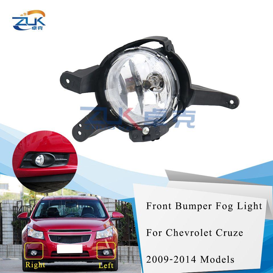 ZUK Front Bumper Driving Fog Light Lamp Foglight Foglamp For Chevrolet Cruze 2009 2010 2011 2012 2013 2014 Anti-Fog Light Lamp