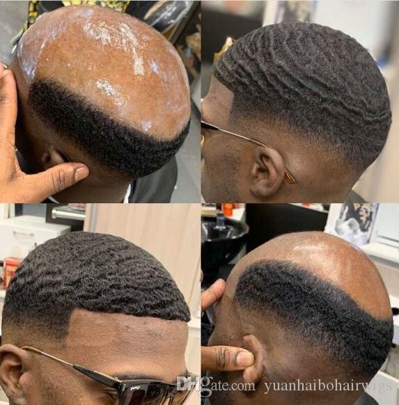 8mm Afro Dalga Tam Dantel Toupee Basketbass Oyuncular Ve Hayranları Için Brezilyalı Remy İnsan Saç Yedek Afro Dalga Saç Erkekler Peruk Ücretsiz Shippinng