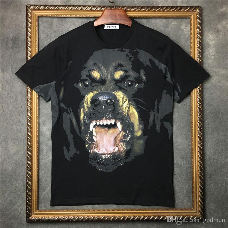 أزياء الرجال المصمم T قميص الصيف T قميص رجل إمرأة T شيرت الهيب هوب الحيوان مطبوع قصير كم حجم S-XXL