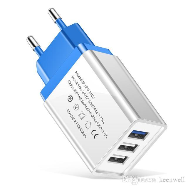 3 ports USB Chargeur universel chargeur de téléphone portable pour Samsung S10 S9 S8 S7 Huawei LG charge rapide Chargeur Pour Xiaomi