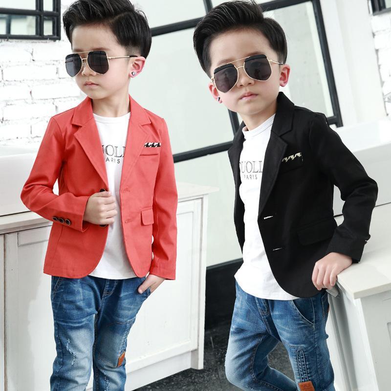 Высокого качество 2019 новых дети весны осени костюм мальчиков вскользь устаревать ребенок мода два цвета пальто мальчики блейзер для свадеб