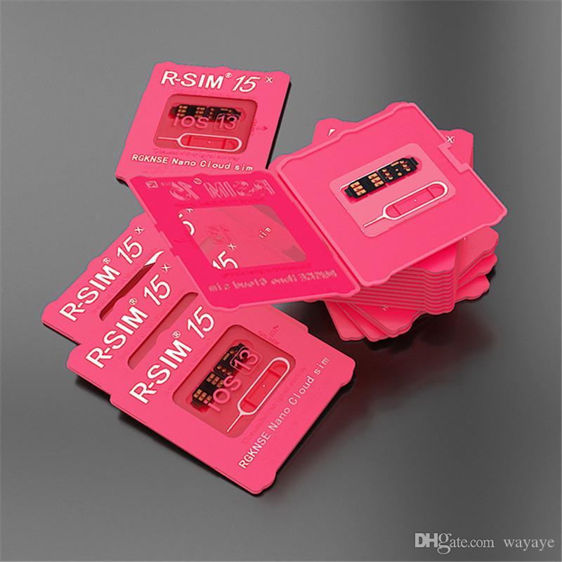 RSIM15 Cartão Unlock RSIM15 Desbloqueio iOS13 RSIM 15 CPU dual atualizado ios13 SIM Card de desbloqueio para o iPhone 11Pro 8plus 7 6 XS Max XR