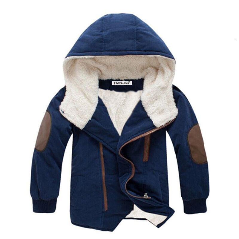 Дети пальто 2019 Осень Зима мальчики Куртка для мальчиков Детская одежда с капюшоном верхняя одежда мальчик одежда 4 5 6 7 8 9 10 11 12 Год Y191112