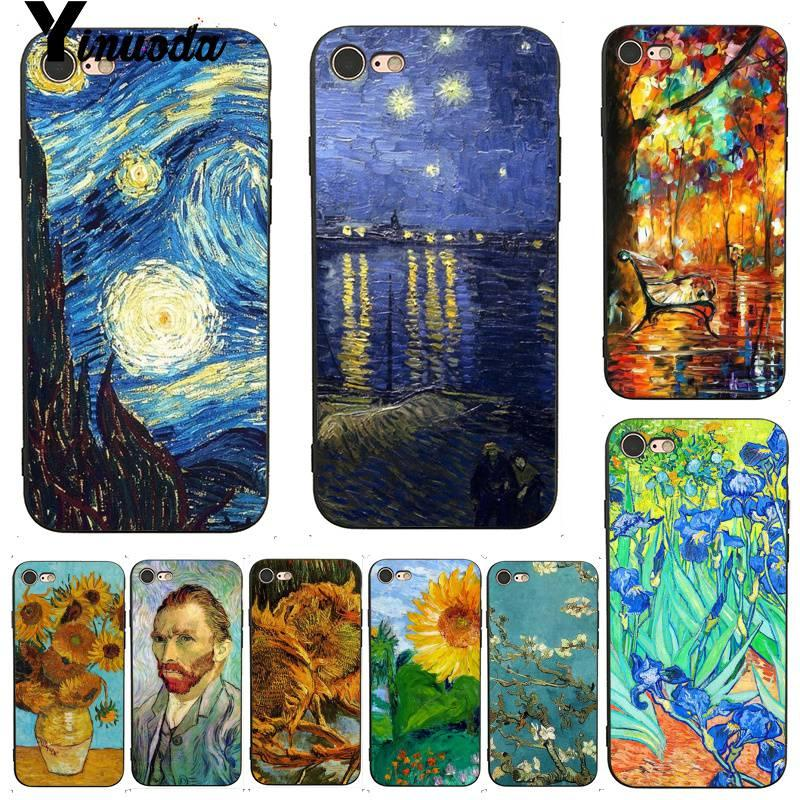 Custodia Cellulare Artistica Iphone 7 6 X Custodia Cellulare Van Gogh Notte Stellata Custodia Cellulare Nuova IPhone 7 X 6 6S 8 Plus XS XR XS MAX Da ...