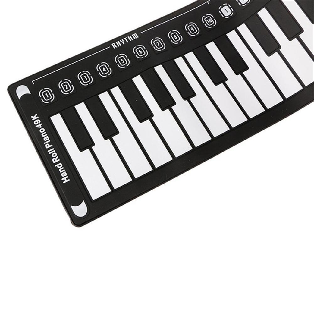 Mounchain 49 Key Speaker Hand Roll Electronic Piano Portable Folding Electronic Soft Keyboard Roll Up Piano