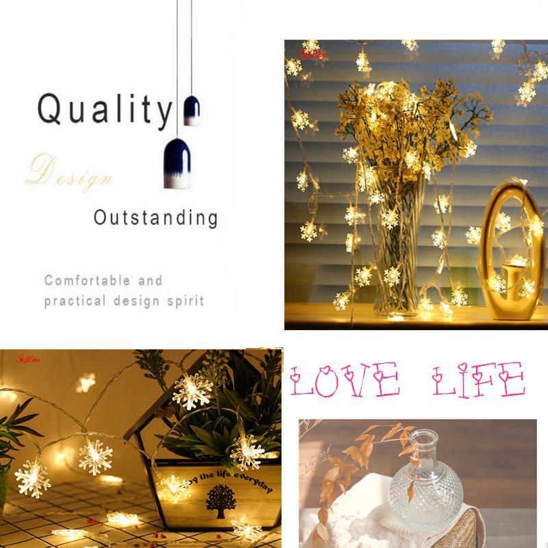 3M 20Leds Christmas Tree Snow Flakes Led String Fairy Light Xmas Party Home Wedding Garland Christmas Led Lights Decoration 6Z