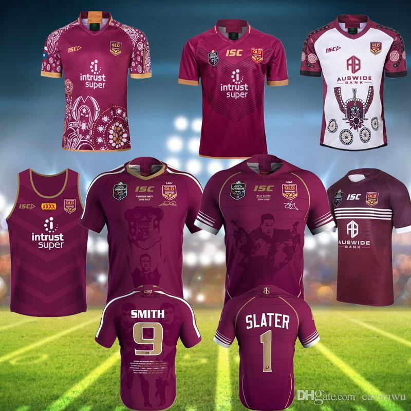 Ligue nationale de rugby à 2019 Queensland 19 20 maillot de rugby noir de QLD Maroons Malou Malou maillot de rugby QLD MAROONS STATE OF ORIGIN