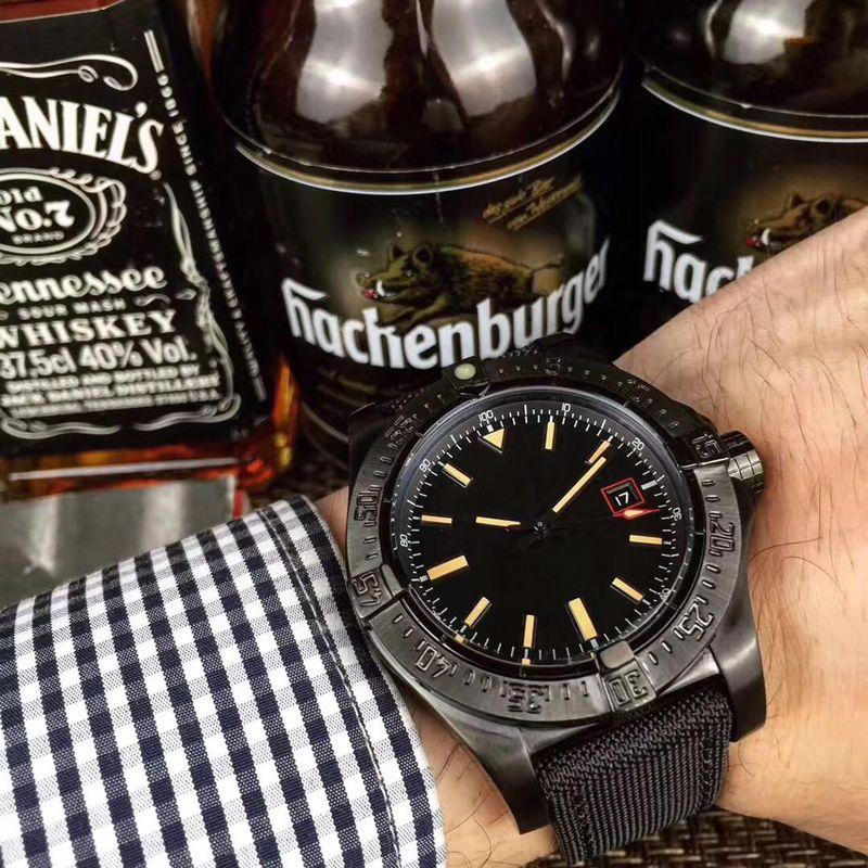 43MM 최고 품질 남성 시계 1884 자동식 운동 사파이어 블랙 다이얼 316 스테인레스 스틸 케이스 쿨 시계 무료 배송