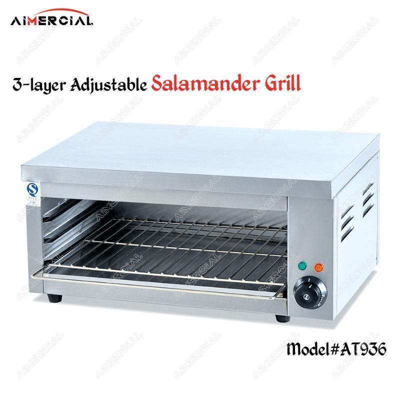 salamandre électrique en acier inoxydable AT936 grill BBQ Chicken Meat Grill 3 couches réglable Ascenseur style Salamandre machine
