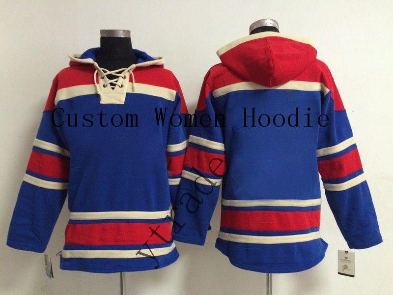 Customized Women Hoodies Hockey Winter Hoodie Hockey Jackets long Sleeve Ladies 0013
