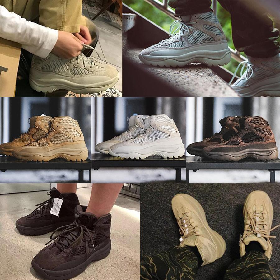 2019 Nouvelle saison 6 Desert Rat Boot Kanye Martin bottes chaussures de basket-ball de la mode saison 6 hommes étoiles femmes bottillons pour la plate-forme extérieure traid15f #