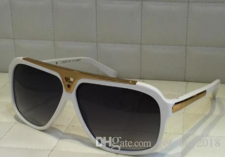 Gafas de sol Hombres Logotipo de oro brillante Verano Millonario Vintage Diseñador Evidencia Estilo caliente Láser Top Gafas de sol Calidad WSTHC