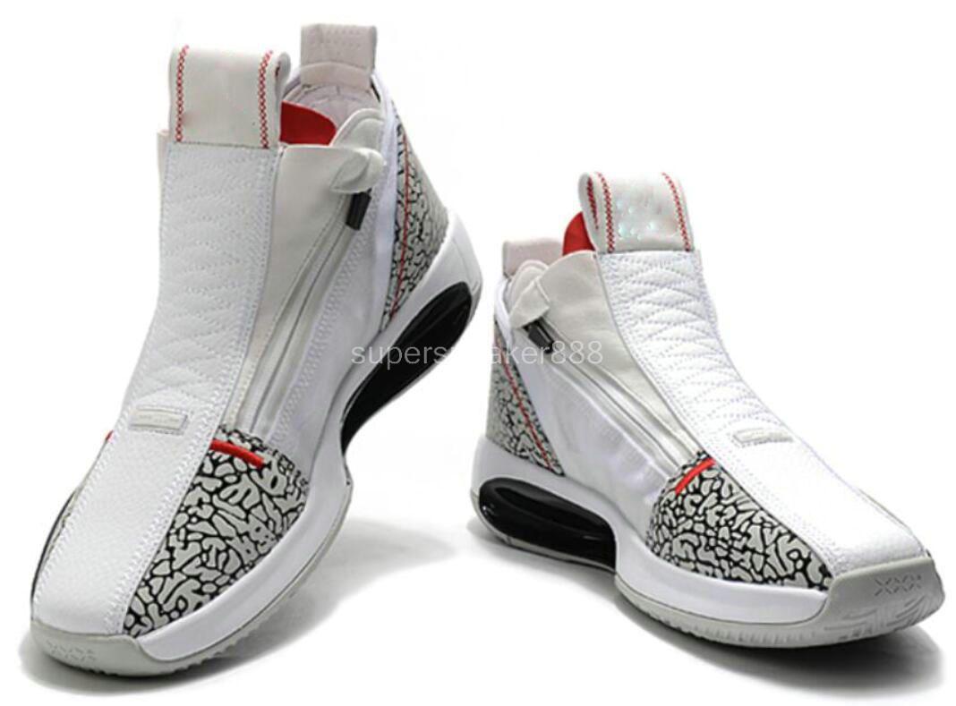 Top qualité J34 XXXIV Bleu Void Hausse Ambre Chaussures neige Eclipse Hommes Basketball Blanc Noir Bleu Designer Sport Sneaker 7-12 a4