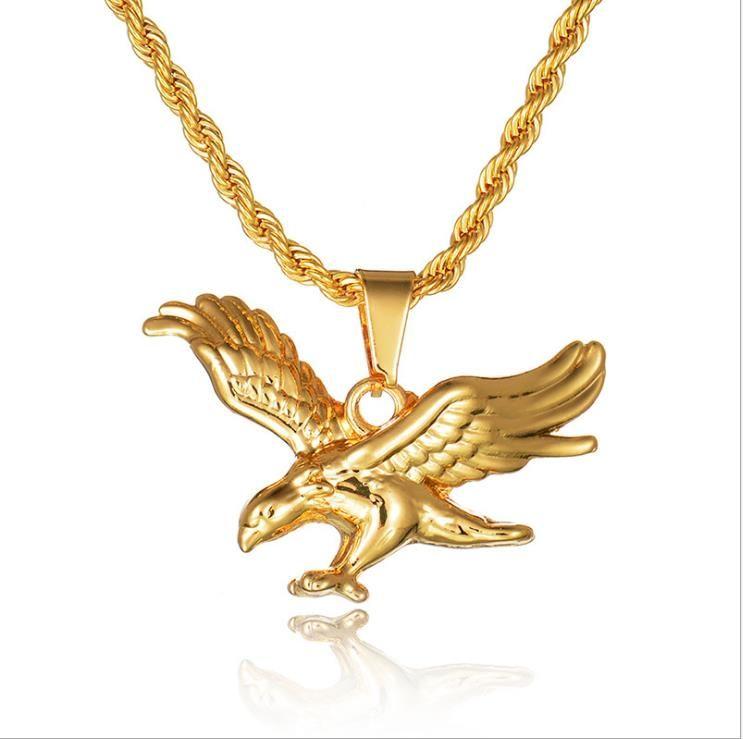 Nueva joyería dominante Águila boutique de accesorios tendencia de la moda hip-hop de la personalidad de Europa y América collar colgante de joyería de los hombres
