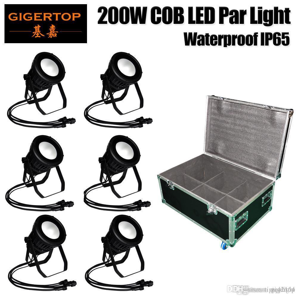 Gigertop 6in1 Flightcase Pack 200W COB LED Projection Lamp Die Casting Aluminum Outdoor Buildings Exterior Landscape Lighting TP-P108