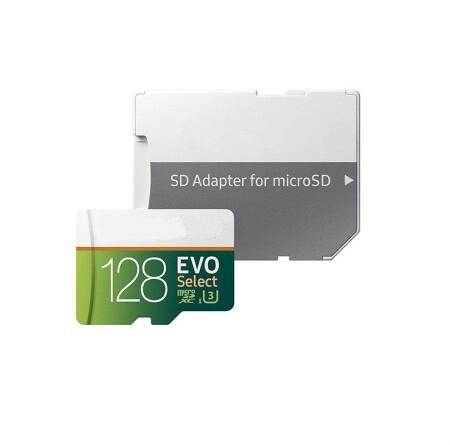 DHL Shipping 32GB / 64GB / 128GB / 256GB EVO Select Plus Micro SD-карта / фактическая емкость TF Card / 4K HD Камера для хранения камеры 100 МБ