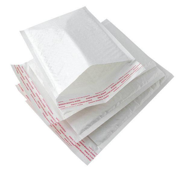 새로운 화이트 크래프트 종이 거품 봉투 가방 우편물 패딩 배송 버블 봉투 방수 폼 메일 링 가방 (8) 크기