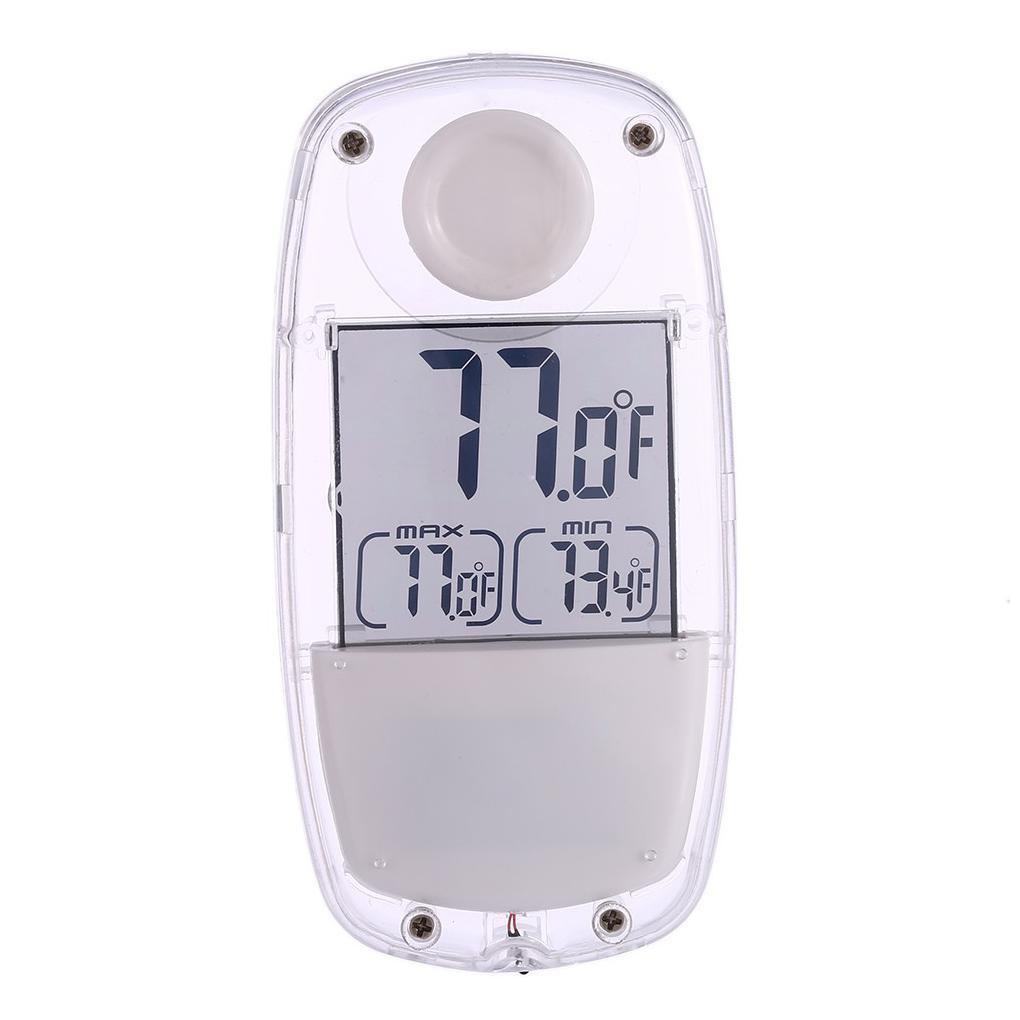 Toptan LCD Dijital Güneş Kapalı Ev Araba için Pencere Termometre Emme Kupası Sıcaklık Ölçer ölçün Powered