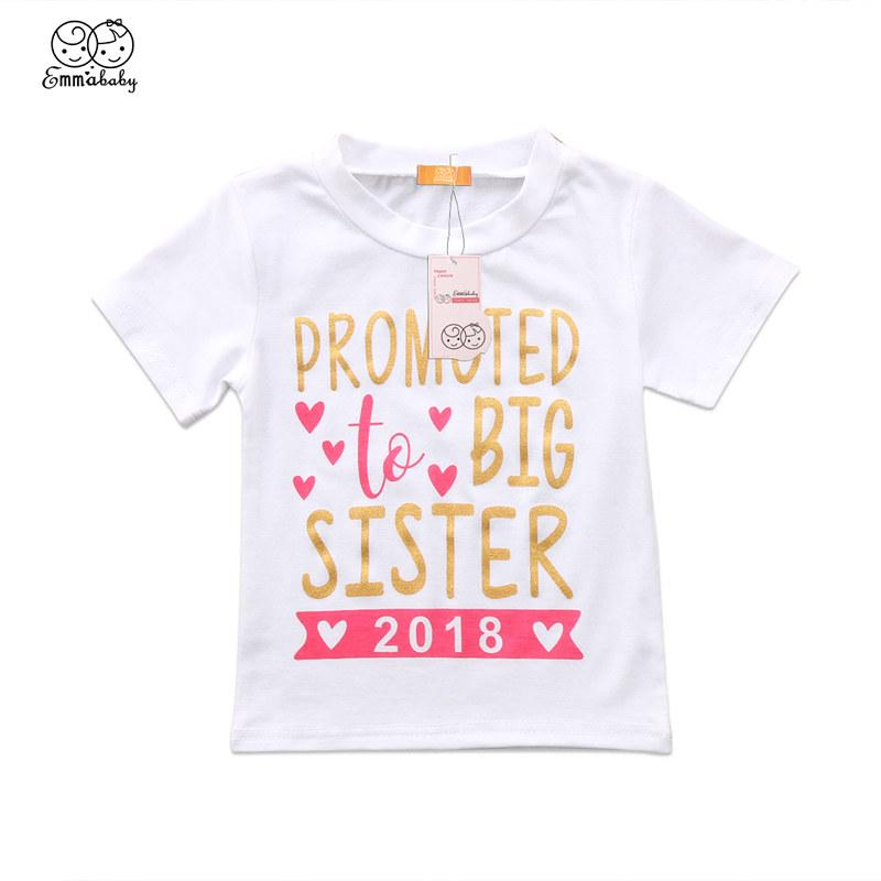 Kids Baby Girls Toddler /'2020 To be Big Sister/' Short Sleeve T-shirt Clothes Top