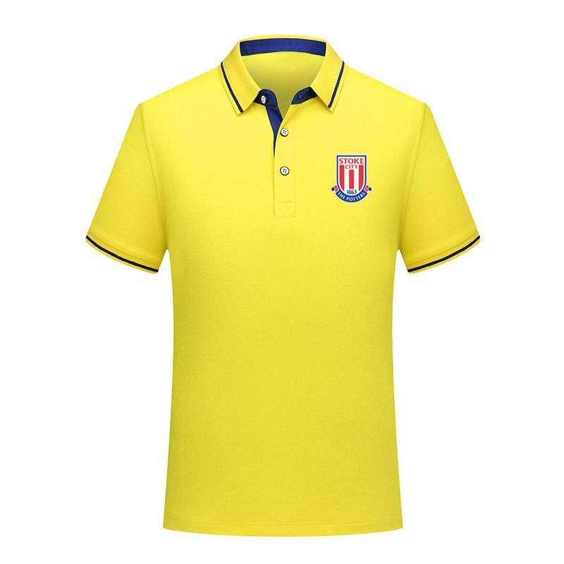 lo Stoke City FC camicia di cotone moda di calcio di polo estive 2020 uomini bavero manica gli uomini di polo di calcio di polo di formazione Top in jersey corta Polo Uomo