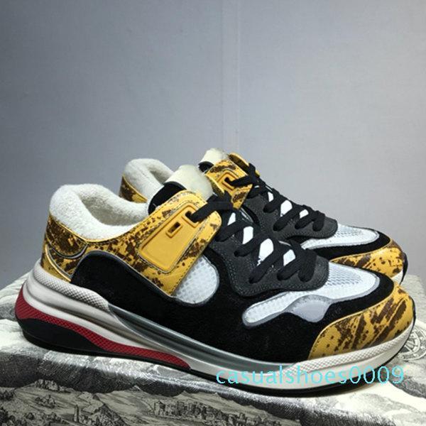 Çok renkli kareleri Moda Lüks Süet Mesh Sneakers Eğitmenler Mens Ultrapace sneaker Yansıtıcı Kumaş Bayan Lüks Tasarımcı Ayakkabı C09