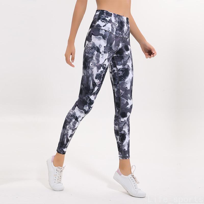 여성의 슬림 요가 레깅스 바느질 인쇄 스포츠웨어 패션 브랜드 섹시한 피트니스 스타킹 높은 허리 체육관 러닝 인쇄하기