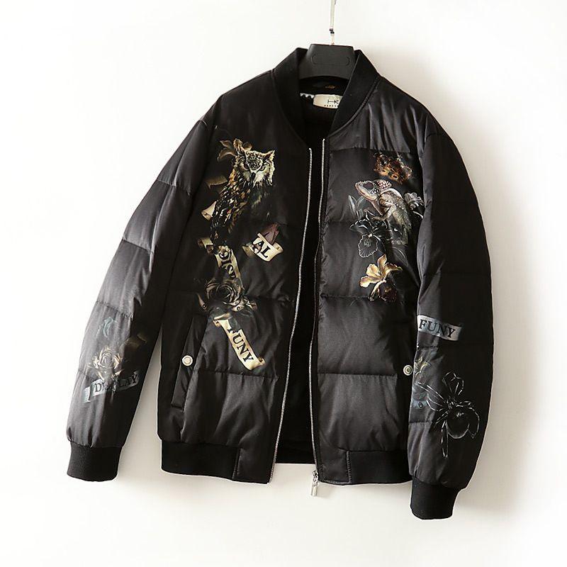 2019 New Wholesale Embroidery Flight Jacket Stand Collar Fashion Jacket Couple Models Mens Designer Jackets Windbreaker Plus Size M-3XL