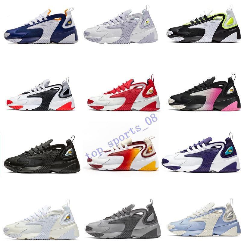 2019 تكبير M2K 2K تيكنو 2000 الثلاثي أسود أبيض رمادي داكن لرجل إمرأة الاحذية 90S نمط مصمم الرياضية حذاء رياضة حذاء
