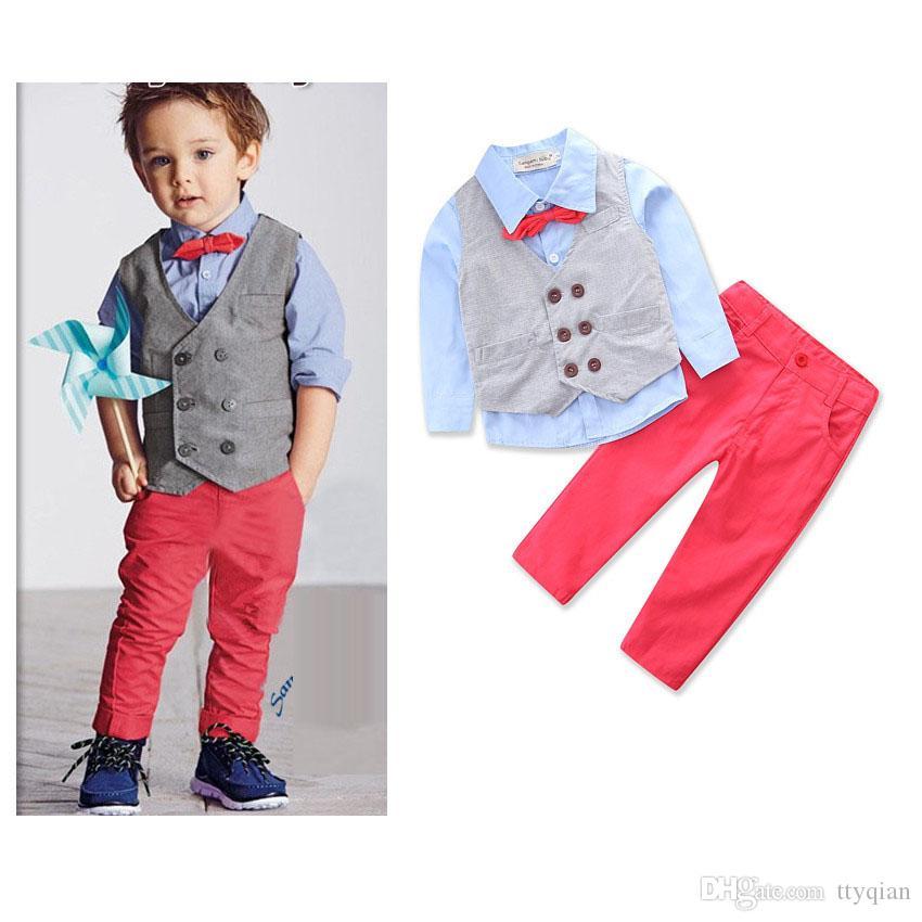 Compre Niños Flores Niños Niños Pequeños Bebé Niños Pequeños Ropa De Caballero Conjuntos De Vestir Traje Para Niños Fiesta Y Boda Ropa Traje Nuevo