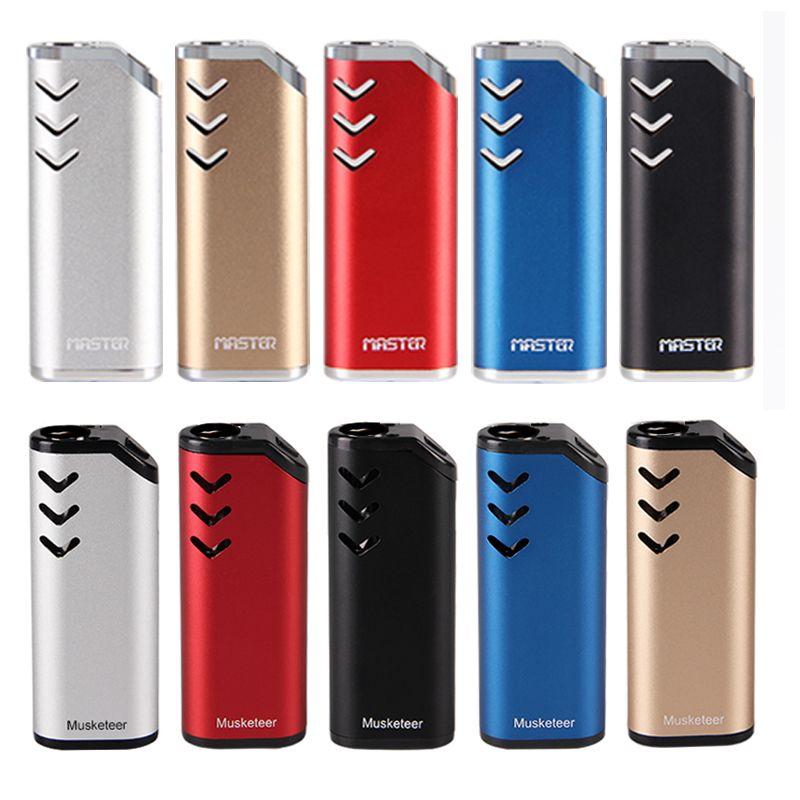 Original ECT Musketeer/master vape preheating battery 650mAh vv for Thick oil cartridges box mod Vaporizer Electronic Cigarette