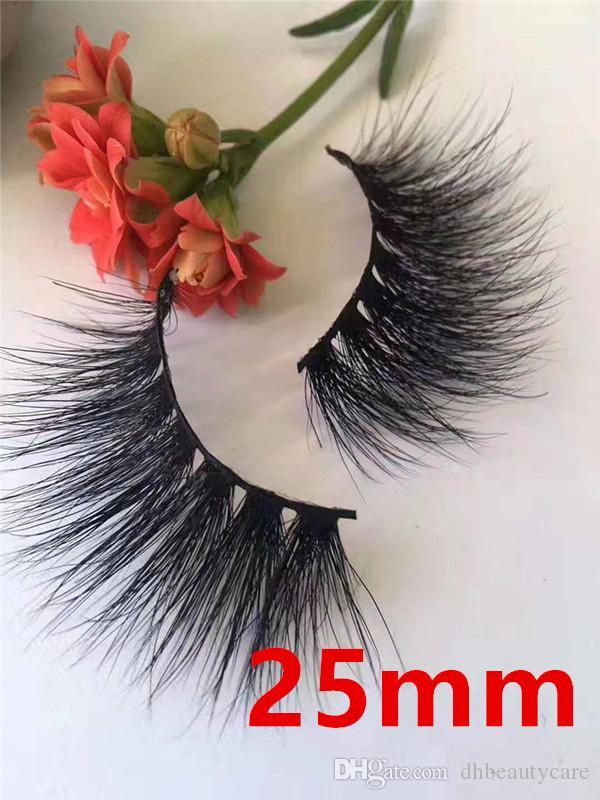 Hot 25MM 5D Mink Lashes pestañas largas y realistas de cabello de visón 37 estilos Alta calidad Envío gratis
