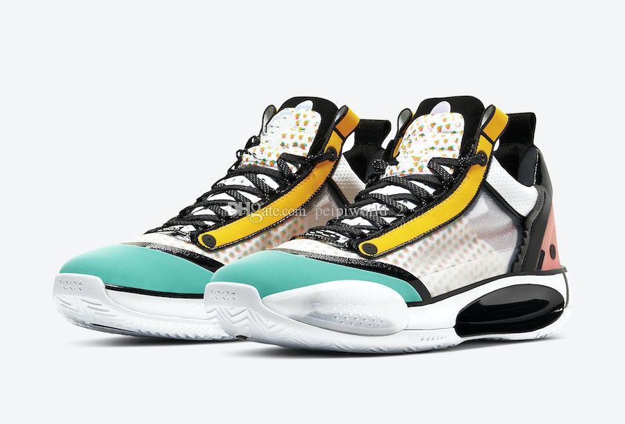 2020 أحذية الجديد Jumpman الرابع والثلاثون منخفضة غوو آيلون PE كرة السلة مع صندوق الساخن 34S منخفضة اللون الملونة أحذية الرياضة لأسعار الجملة حجم 40-46