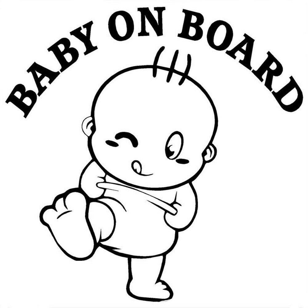 سيارات BABY ON BOARD مضحك الطفل تحذير السلامة تسجيل السيارات ملصق الفينيل ملصق الكرتون العالمي ملصقات الخارجي