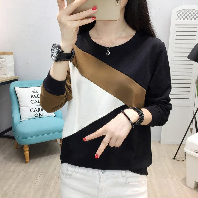 Plus Size Tshirt Women Fashion Long Sleeve T-shirt Women Tops Casual Camiseta femme Patchwork Tshirts Women Poleras Mujer 2019 (3)