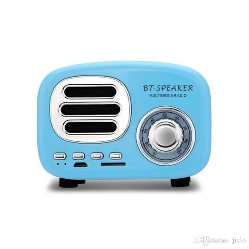 BT02 Alto-falantes Bluetooth Speaker New Retro Inovador Presente Sem Fio Bonito Speaker Subwoofer Cartão de Inserção de Telefone Móvel