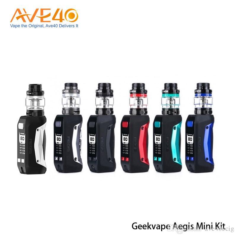 Original Geekvape Aegis mini kit Electronic Cigarette Waterproof 2200mAh 80W Battery with 5.5ml Cerberus Tank