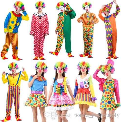 MENS FUNNY CIRCUS CLOWN ADULT HALLOWEEN CARNIVAL FESTIVAL FANCY DRESS COSTUME
