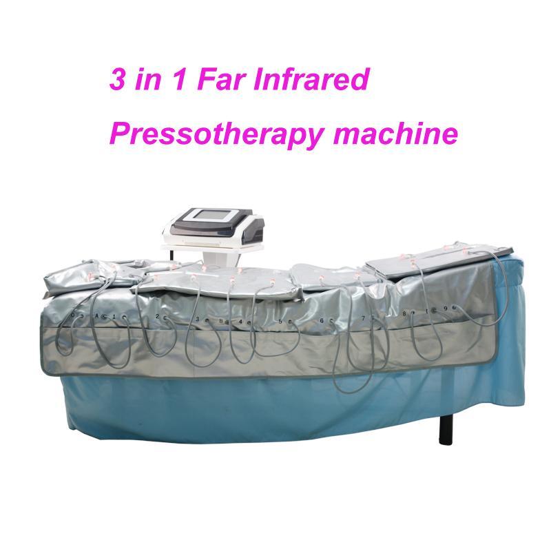 3 en1 infrarouge lointain perte de poids pressothérapie peau lymphatique massage du corps de pression d'air draingage désintoxication machine salon spa