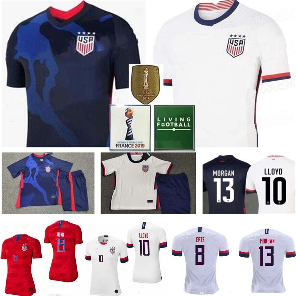 Men Women Kids Soccer Christian Pulisic Jersey Alex Morgan Julie Ertz Megan Rapinoe Press Lloyd Heath Yedlin Dempsey Altidore Football Shirt