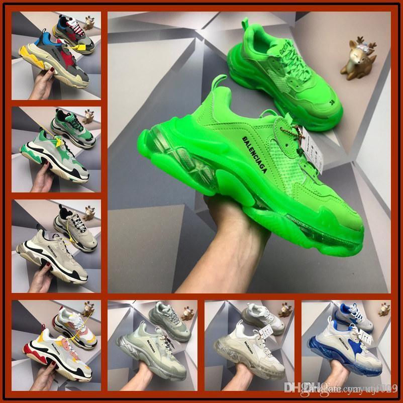 A1 S tripla scarpe vecchie papà tripler scarpe da ginnastica verdi chiare sole chaussures retrò donne Scarpe zapatos uomini hommes hombre zapatillas nere