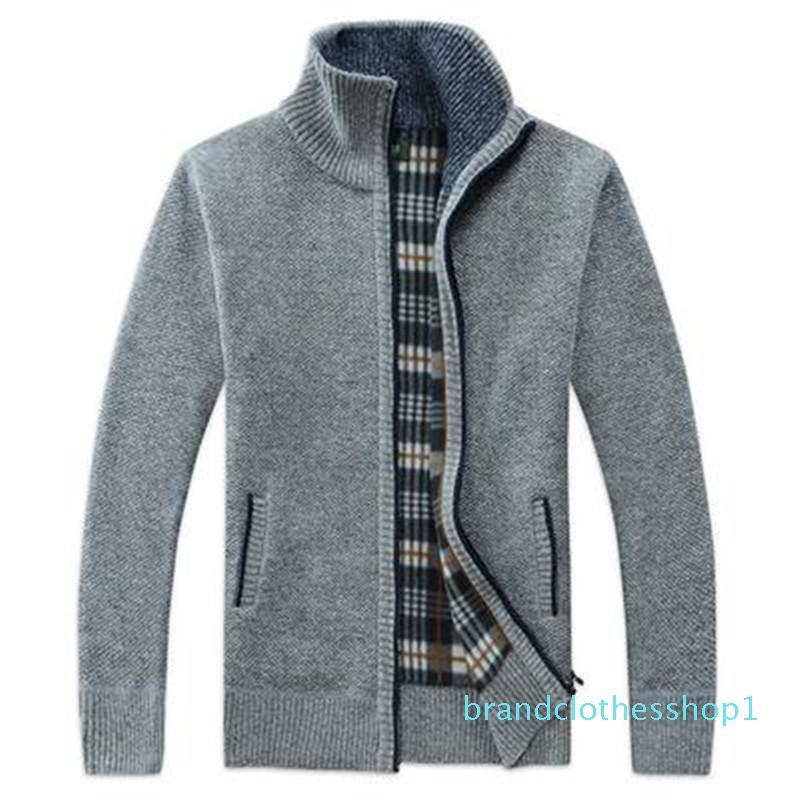 Fashion Men's Sweater Autumn Mens Cardigan High Collar Sweatshirts Fashion Men Casual Long Sleeved Hoodies 7 Colors Asian Size M-3XL