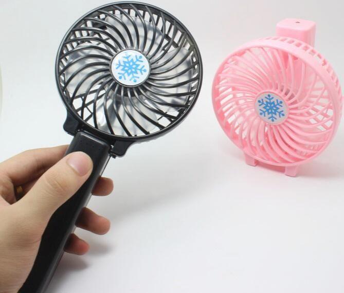 100pcs / Carton / USB Lot ricaricabile ventilatore pieghevole aria condizionata ventilatore pieghevole del dispositivo di raffreddamento Mini Operated Hand Held ventola di raffreddamento