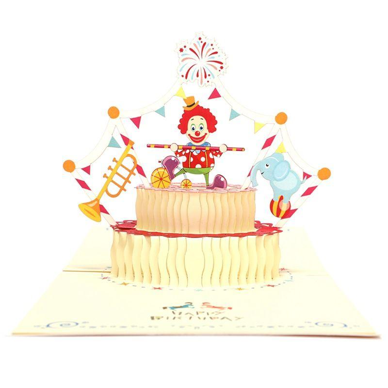 Yellow Clown Personalised Birthday Greetings Card