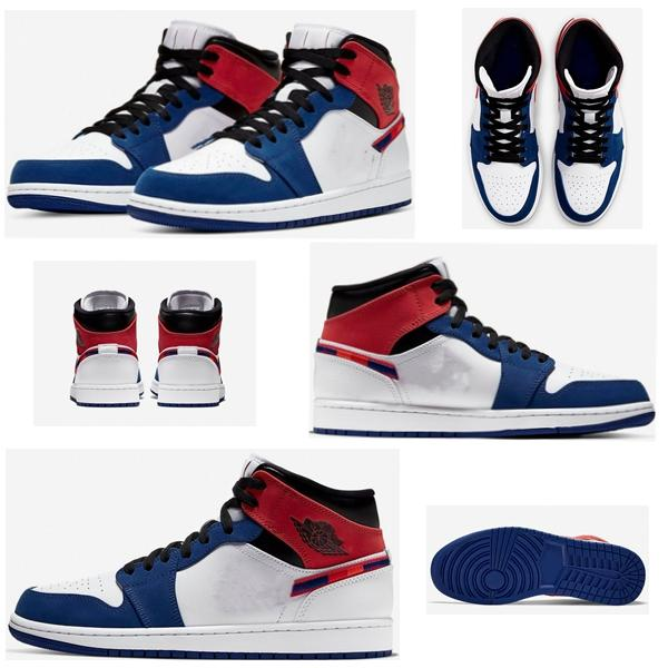 2020 new released 1 Mid Multi-color basketball shoes blue black 852542-146 casual sneakers shoes high quality size 36-46